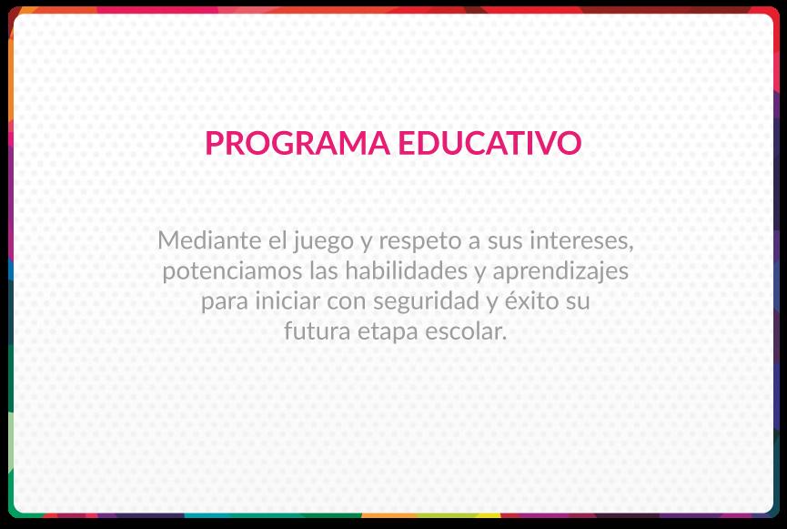 Programa Educativo Jardín infantil